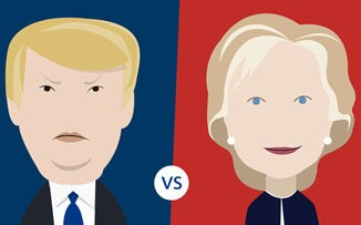 Trump vs. Clinton: caricatura de un mundo imperfecto