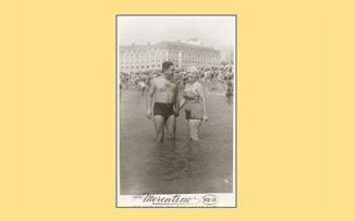 Una pareja, sus fotos y un libro sobre el amor