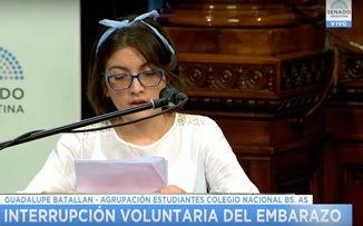 """Guadalupe Batallán: """"Legalizar el aborto es admitir el fracaso de la política"""""""
