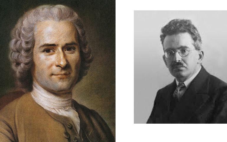 Jean-Jacques Rousseau y Walter Benjamin, dos de los pensadores sobre los que tratarán las conferencias.
