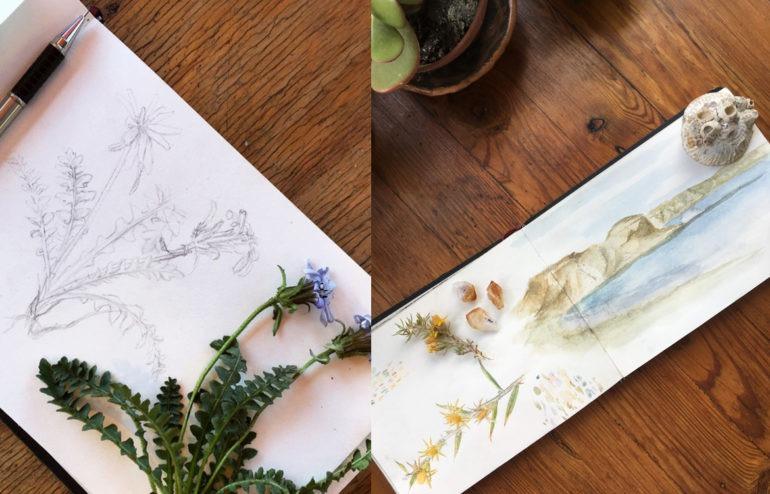 Una joven ilustradora comparte sus trabajos, obras profundas, con un toque surrealista, donde plasma su amor por la naturaleza.
