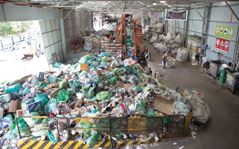 Así se ve el galpón de la cooperativa de recuperadores de material reciclable El Ceibo. (Foto: Camila Miyazono).